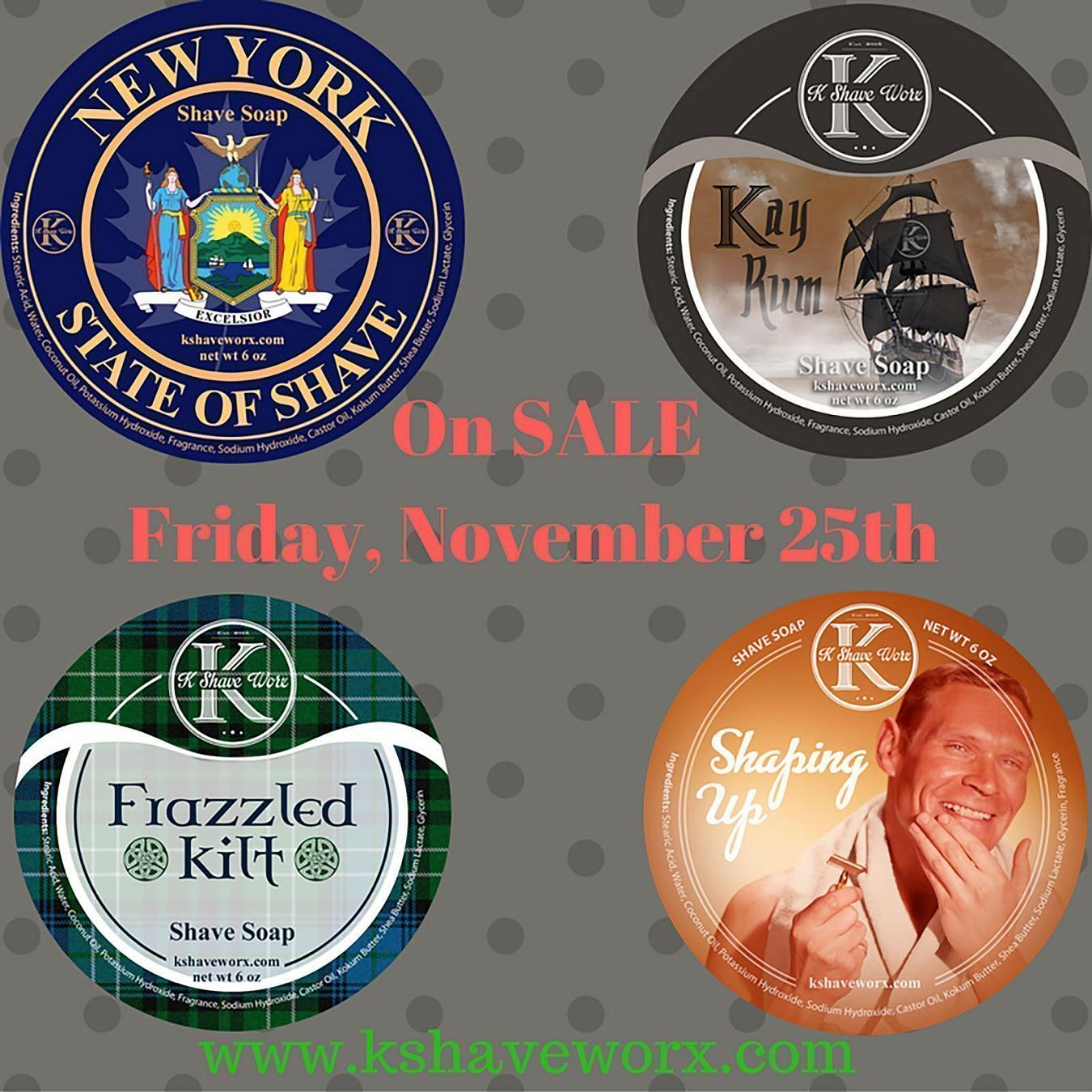 K Shave Worx Black Friday Releases