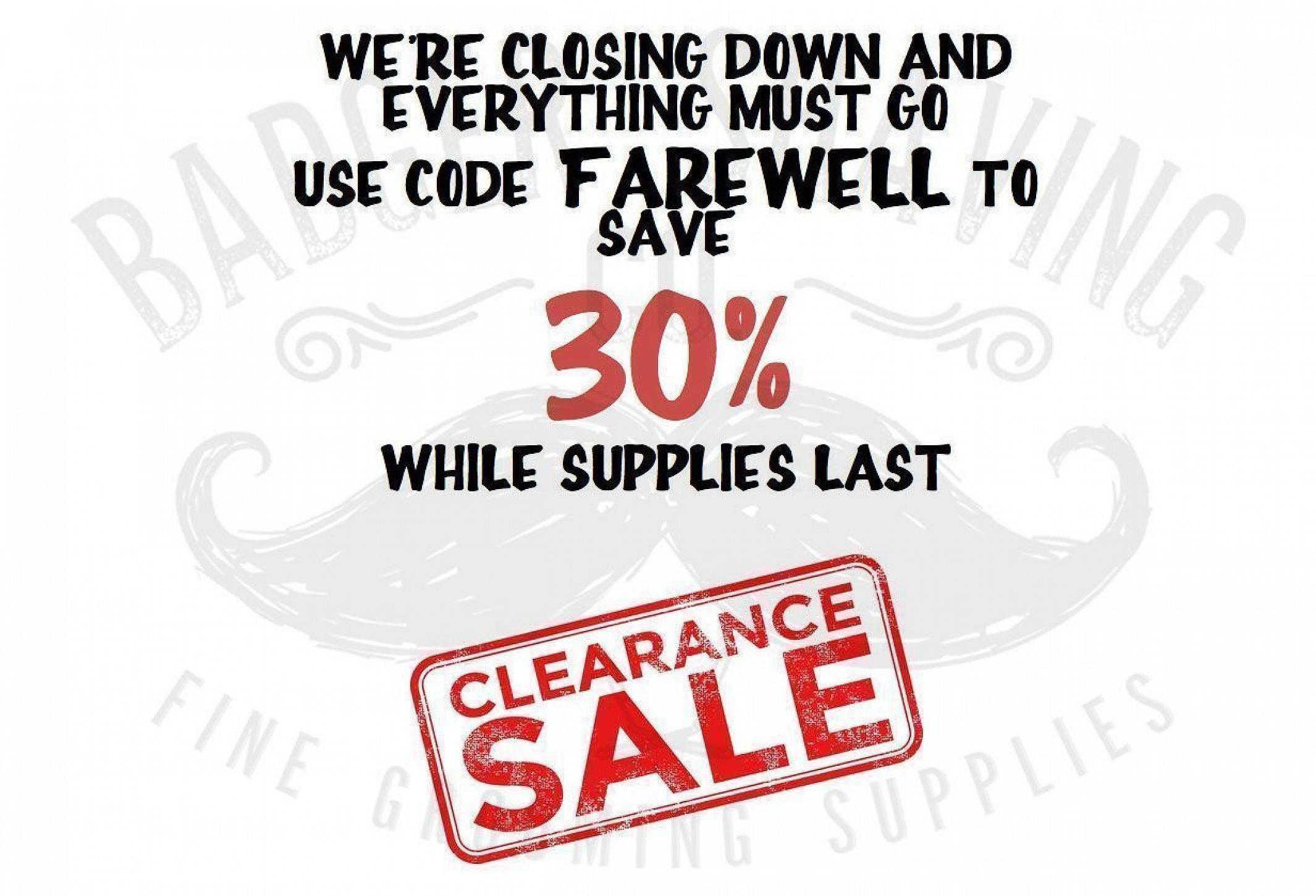 Badger Shaving Co. is Closing