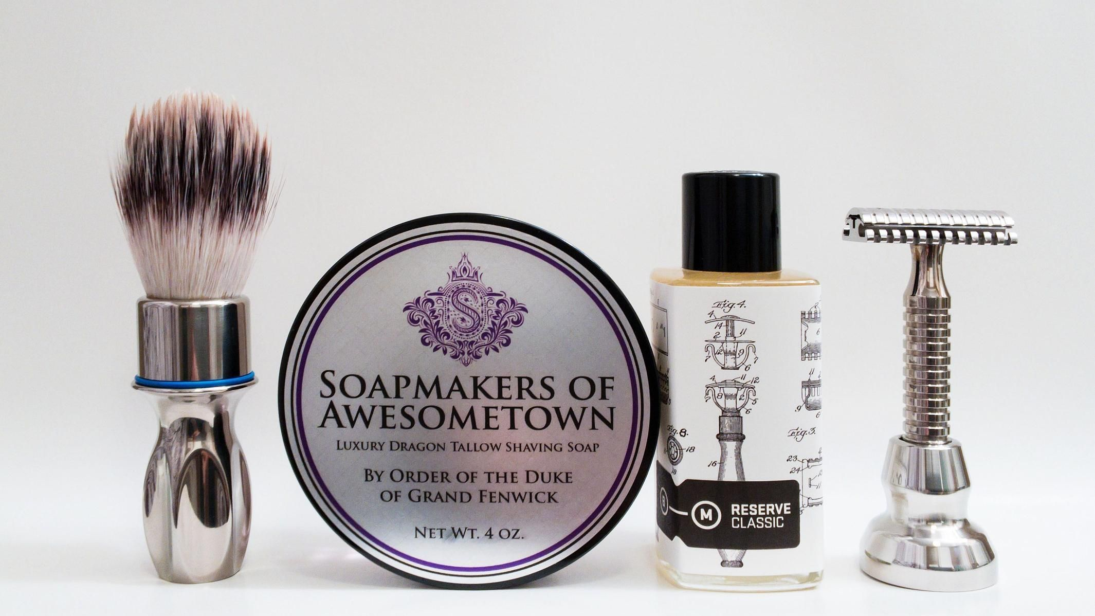 "B&M ""Soapmakers of Awesometown"""