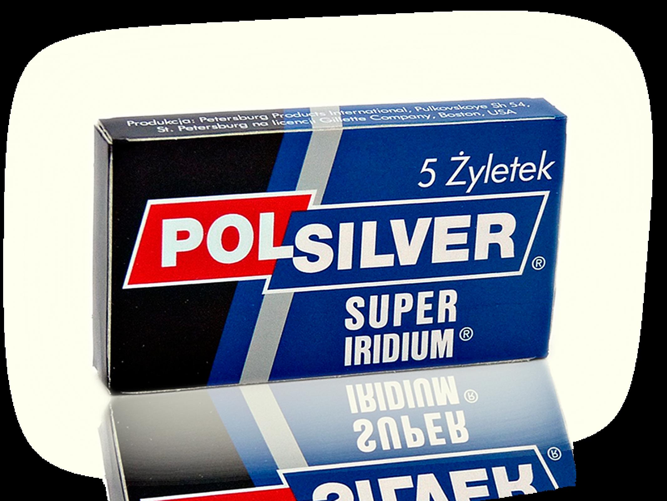 "PolSilver ""Super Iridium"" Razor Blades"